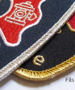 emblème, écusson, brodé, cousu, velcro, sergé, polyester, thermocollant, autocollant