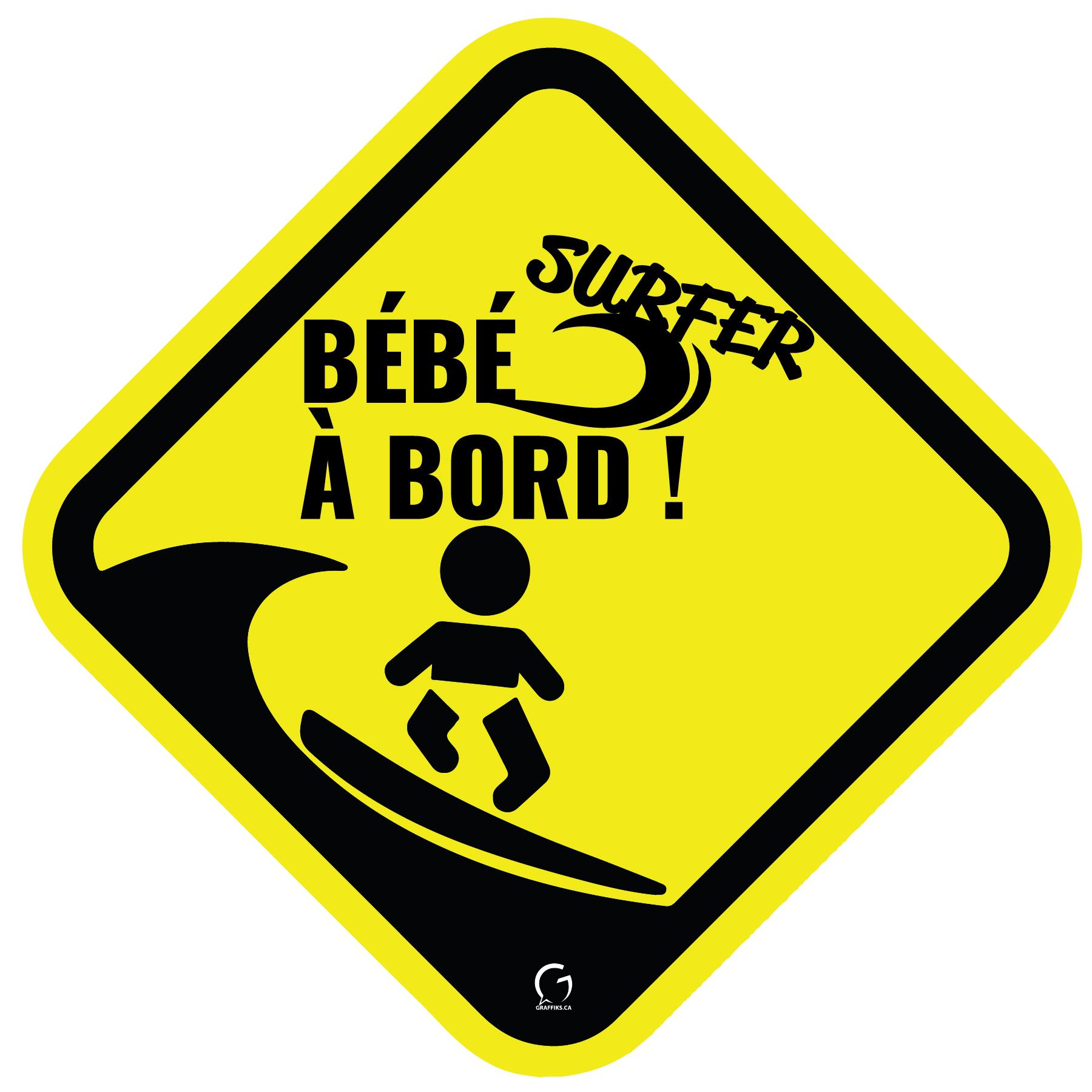 autocollant auto, bébé à bord, famille à bord, bébé, chasseur, music, surf, garçon, fille, sticker