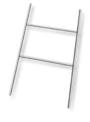 support, support en H, fil, métallique, galvanisé, coroplaste