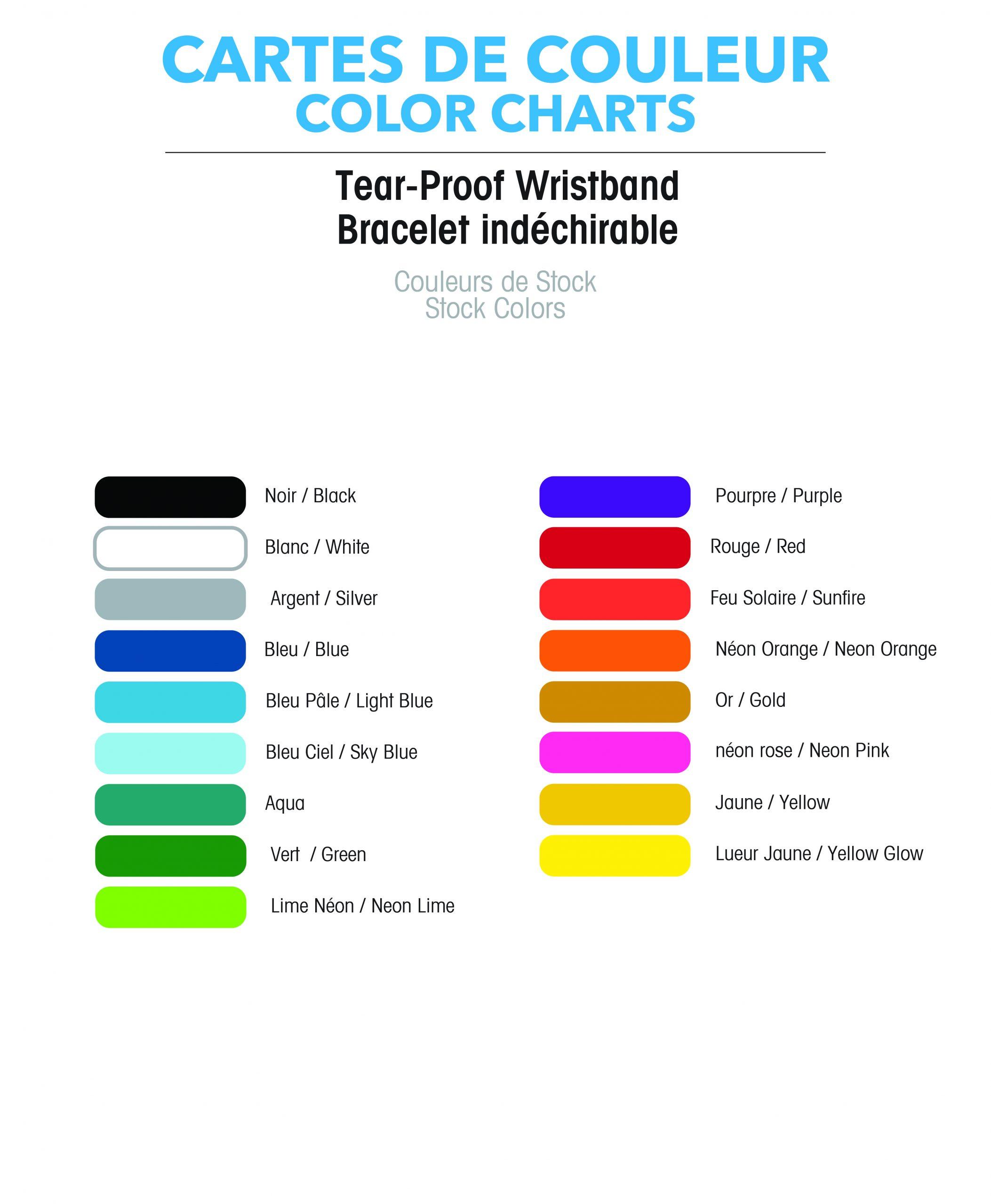 bracelet, indéchirable, événement, entrée, couleur, fluo, unis, tyvek