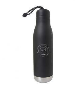 bouteille, isolée, cordon, bouteille, stainless, imprimable, logo, graphisme, couleur, 24oz, café