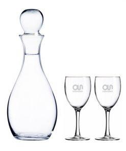 ensemble, décanteur à vin, décanteur, coupe, coupe à vin, bouteille, cadeau, ensemble, promotionnel