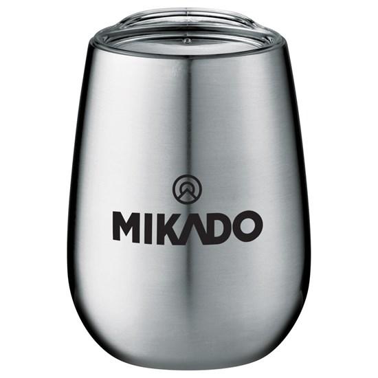 gobelet, tasse, vin, café, 10oz, stainless, couleur, réchaud, froid, couvercle, tasse, verre, vin, transportable
