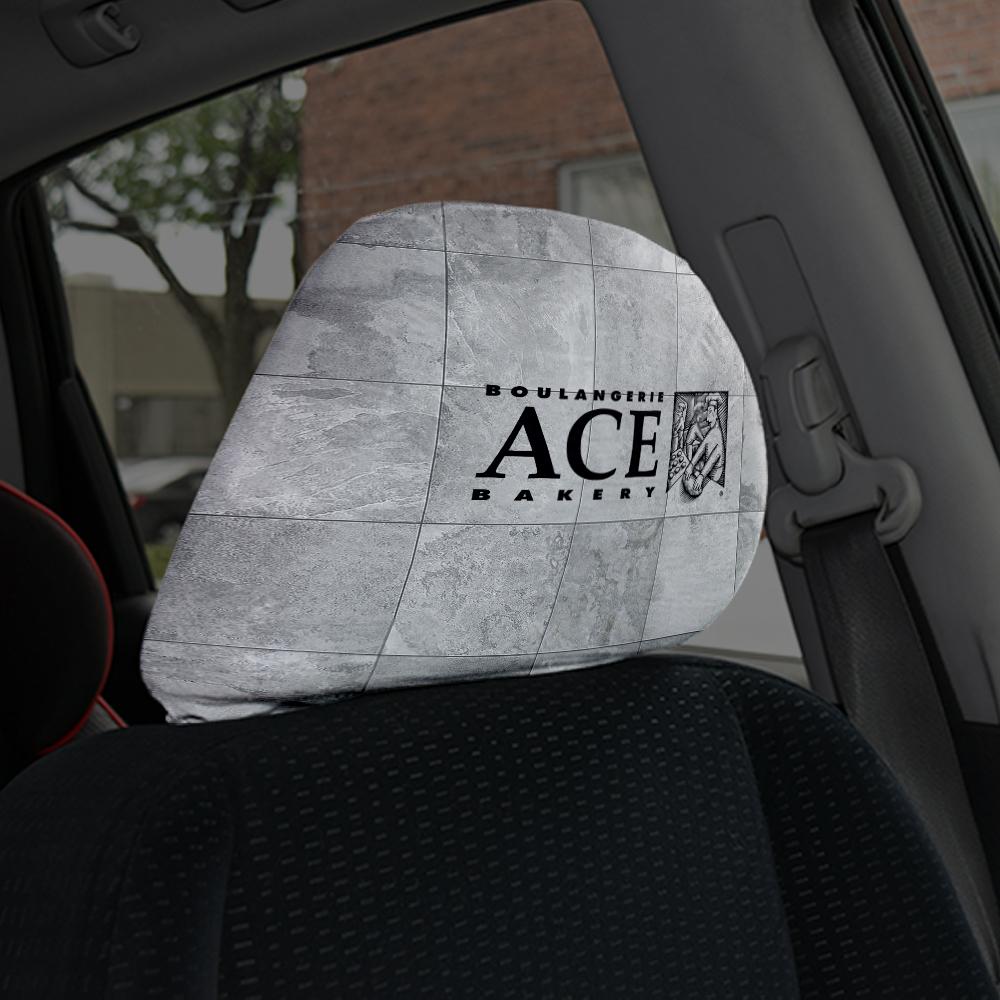housse, appui-tete, voiture, camion, protection, graphisme, montage, logo, publicité