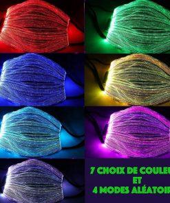 masque lumineux, lumière, del, couleurs, brillant, stroboscopique, flash, Graduel, lisse