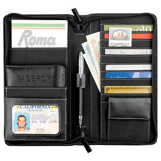 porte-feuille, carte, crédit, argent, cuir, affaires, voyage, logo, graphisme, personnalisé, promotionnel