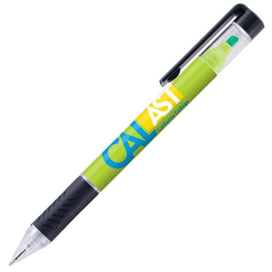 stylo, stylet, surligneur, encre, plastique, bouton poussoir, caoutchouc, pression, logo, graphisme, personnalisé, promotionnel