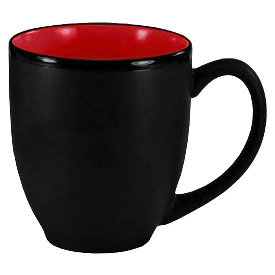 tasse, bistro, hilo, 14oz, 2 couleurs,breuvage, café, boire, logo, graphisme