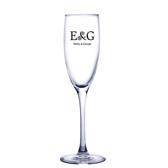 verres à champagne, flûte à champagne, champagne, 5.75oz, breuvage, logo, graphisme, promotionnel, personnalisé