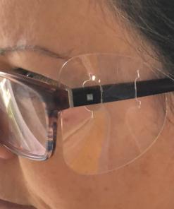 covid, protection, lunette, visière, plastique, yeux